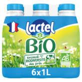 Lactel LACTEL Lait - Demi-écrémé - Biologique - 6x1L
