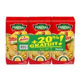 Panzani PANZANI Les 3 minutes - Penne - Pâtes - Cuisson rapide - 3x500g