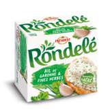 Rondelé PRESIDENT Rondelé - Fromage frais ail et fines herbes 33%mg - 125g