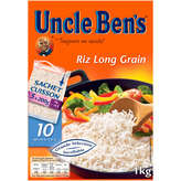 Uncle Ben's UNCLE BEN'S Riz Long Grain -  cuisson 10mn - 5 sachets - 1kg