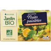 Jardin Bio JARDIN BIO Nuits paisibles - Infusion - Mandarine - Biologiq... - 30g